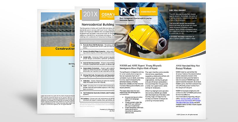 Construction Industry Safety Manuals | TPG Insurance Services