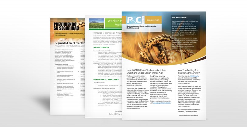 Agriculture Industry Safety Manuals   TPG Insurance Services