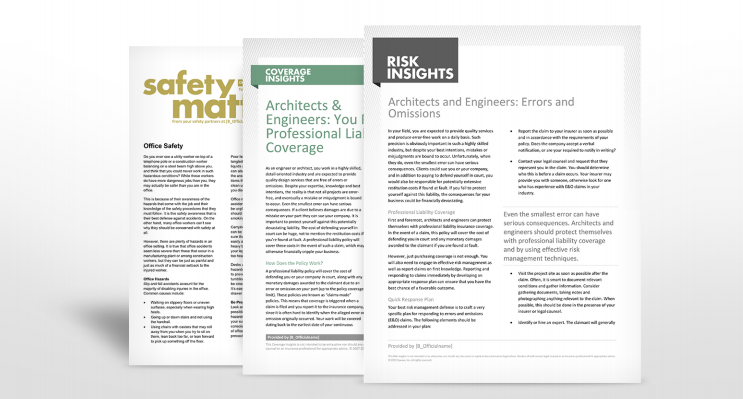 Architects and Engineers Industry Safety Manuals | TPG Insurance Service