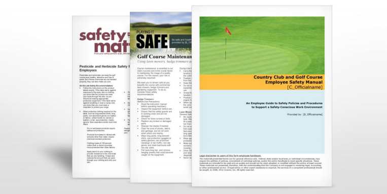 Golf Course and Country Club  Safety Manuals | TPG Insurance Services