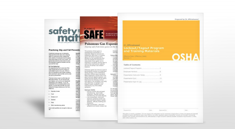 Manufacturing Industry Safety Manuals | TPG Insurance Services