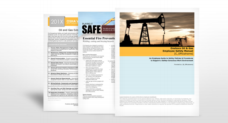 Oil and Gas Industry Safety Manuals - Insurance | TPG Insurance Services