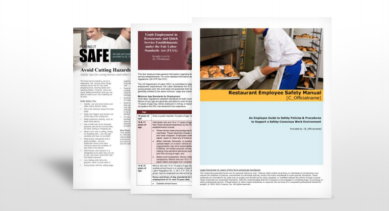 Restaurant Industry Safety Manuals | TPG Insurance Services