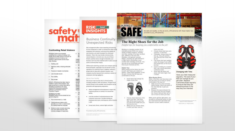 Retail Industry Safety Manuals | TPG Insurance Services