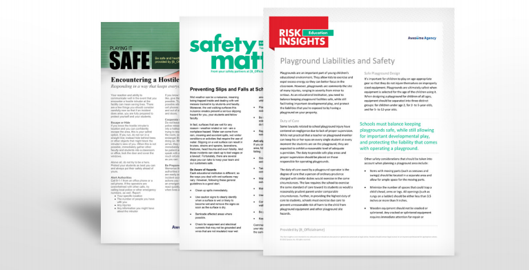 Schools and Education Safety Manuals | TPG Insurance Services
