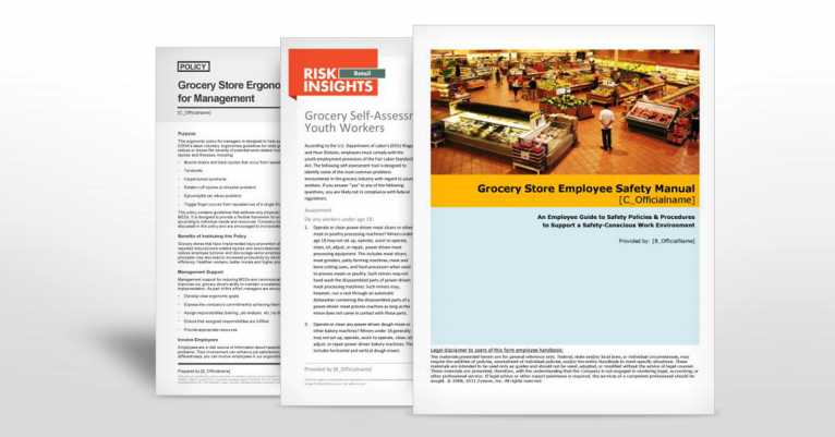 Grocery Store Safety Manuals | TPG Insurance Services