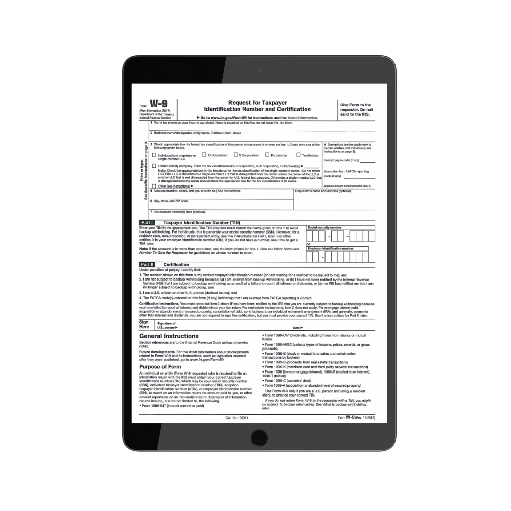 W-9 Form - Request for TIN Form | TPG Employer Forms