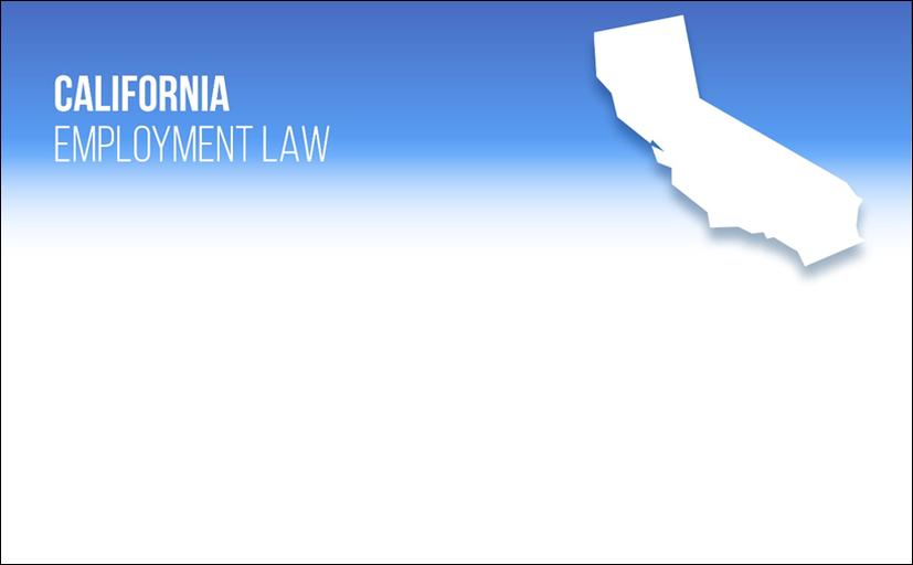 California Employment Law banner