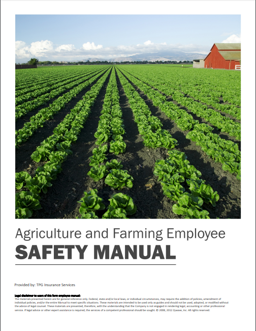 Safety Manuals By Industry - Agriculture & Farming Employee | TPG