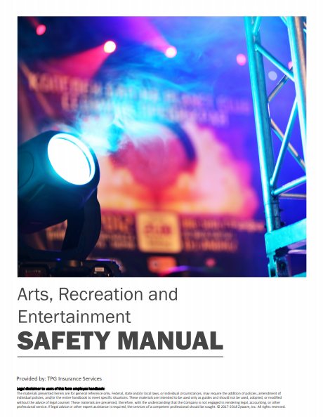 Safety Manuals By Industry - Arts Recreation Entertainment | TPG