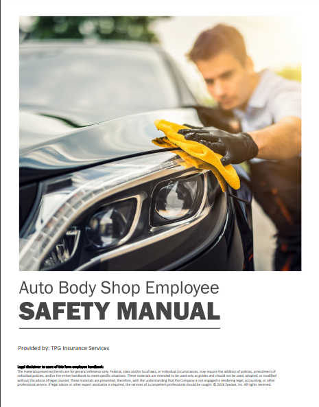 Safety Manuals By Industry - Auto Body Shop Employee | TPG