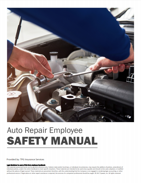 Safety Manuals By Industry - Auto Repair Employee | TPG