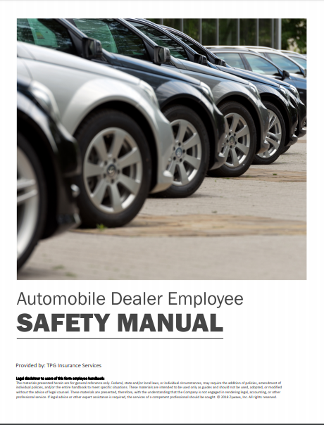 Safety Manuals By Industry - Automobile Dealer Employee | TPG