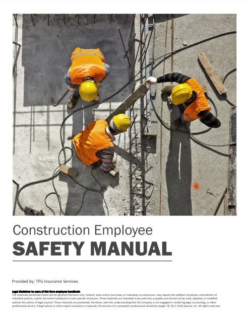 Safety Manuals By Industry - Construction Employee | TPG