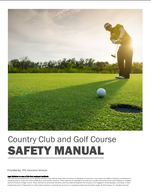 Safety Manuals By Industry - Country Club & Golf Course | TPG