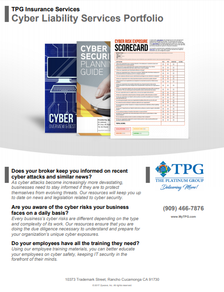 TPG Insurance Services - Cyber Liability Services Portfolio