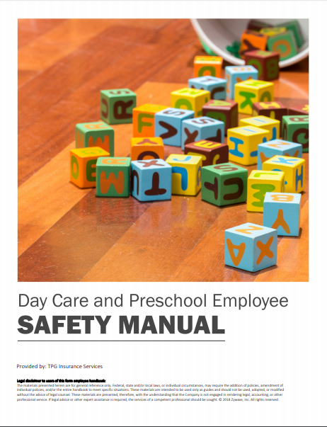 Safety Manuals By Industry - Day Care & Preschool Employee | TPG