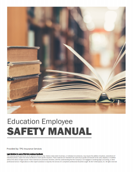 Safety Manuals By Industry - Education Employee | TPG