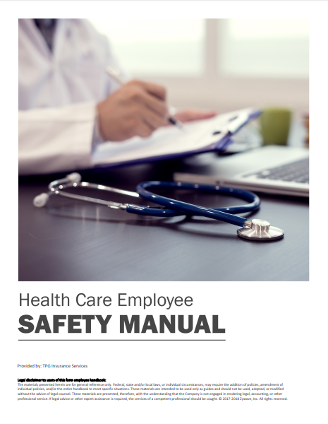 Safety Manuals By Industry - Health Care Employee | TPG