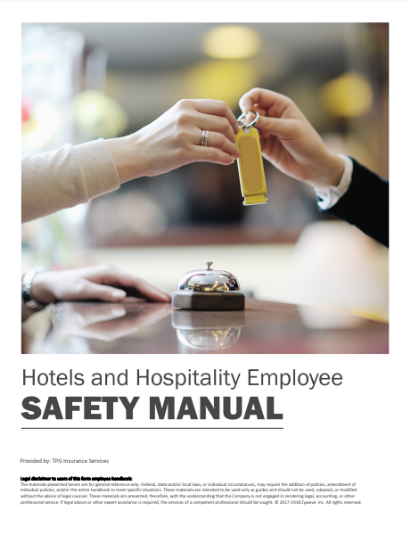 Safety Manuals By Industry - Hotels & Hospitality Employee | TPG