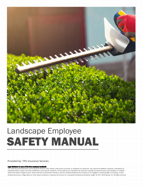 Safety Manuals By Industry - Landscape Employee | TPG