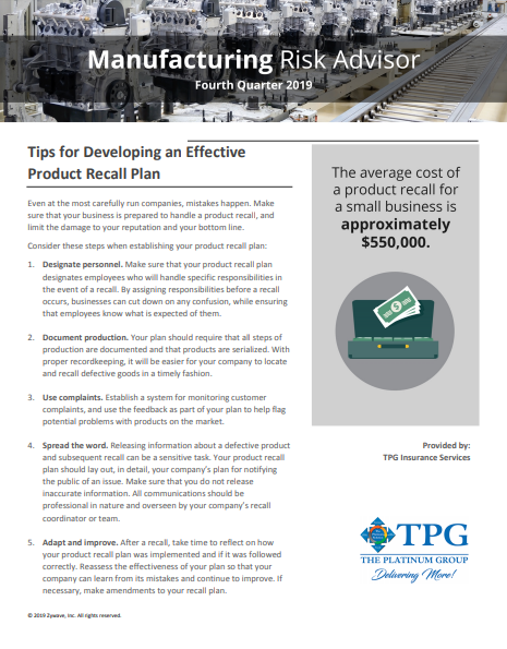 TPG Trucking Risk Advisor Newsletter - Fourth Quarter