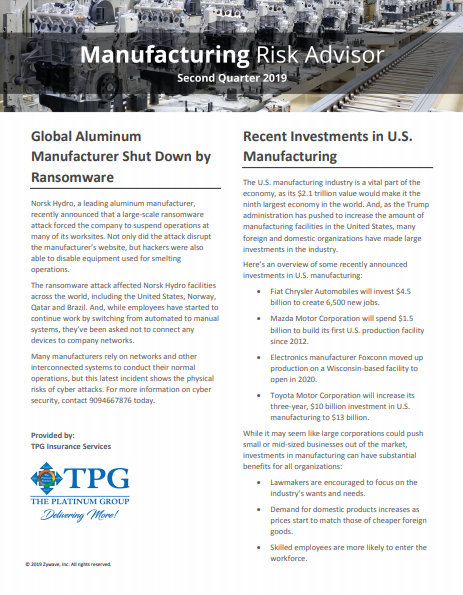 TPG Trucking Risk Advisor Newsletter - Second Quarter