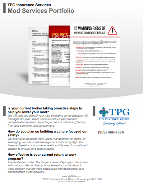 TPG Insurance Services - MOD Industry Services Portfolio
