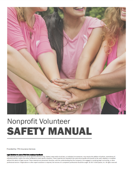 Safety Manuals By Industry - Nonprofit Volunteer | TPG