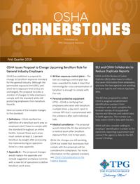OSHA Safety Cornerstones Newsletter - First Quarter 2019