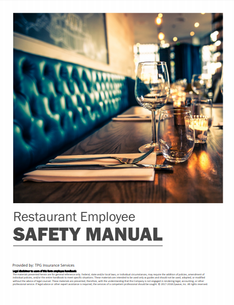 Safety Manuals By Industry - Restaurant Employee | TPG