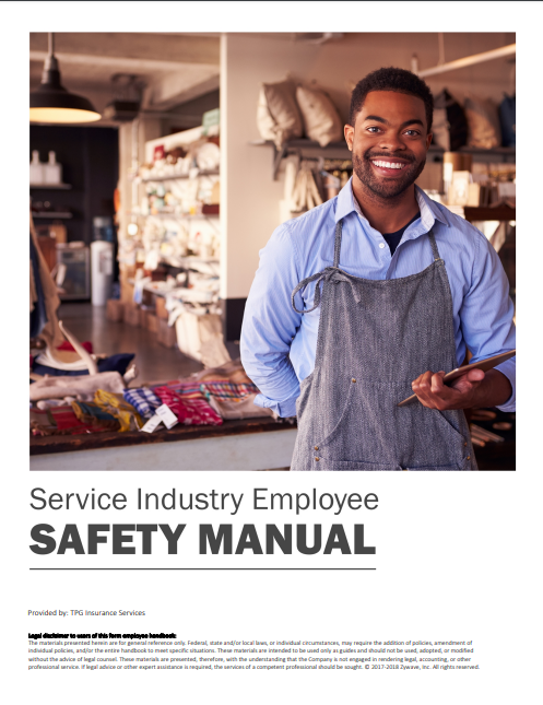 Safety Manuals By Industry - Service Industry Employee | TPG