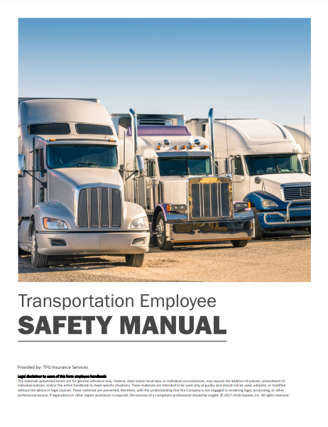 Safety Manuals By Industry - Transportation Employee | TPG