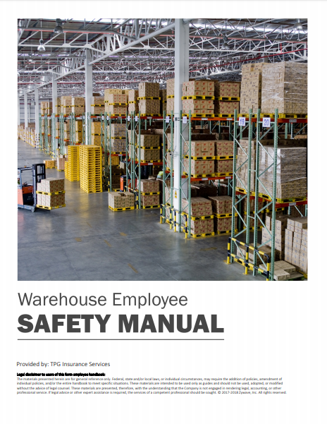 Safety Manuals By Industry - Warehouse Employee | TPG