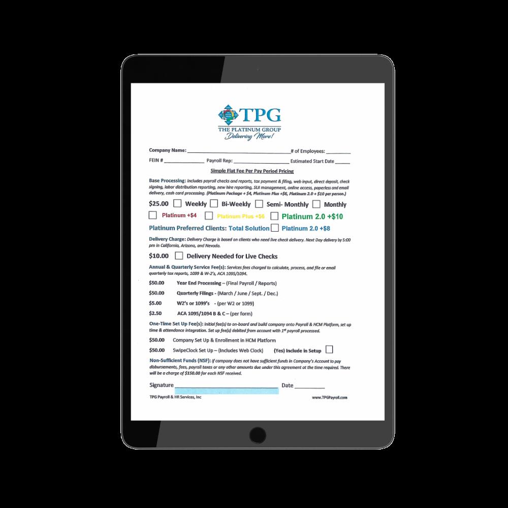 TPG new application sample