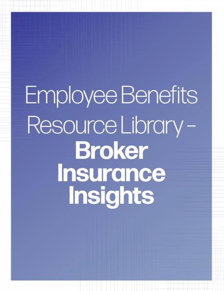 Broker Insurance Insights banner | TPG