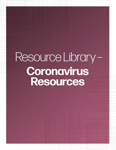 Coronavirus Resources banner | TPG