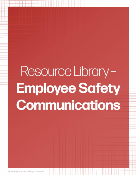 Employee Safety Communications banner | TPG
