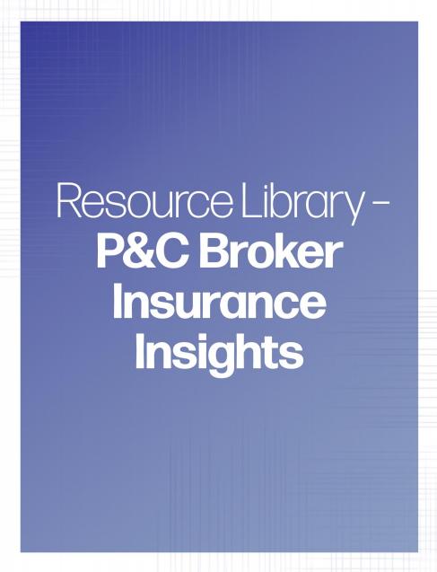 P&C Broker Insurance Insights banner | TPG