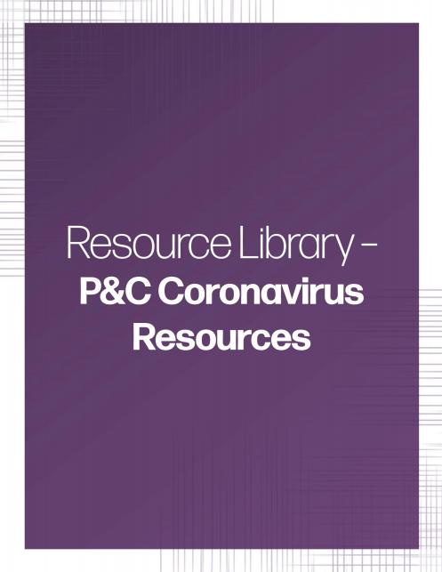 P&C Coronavirus Resources banner | TPG