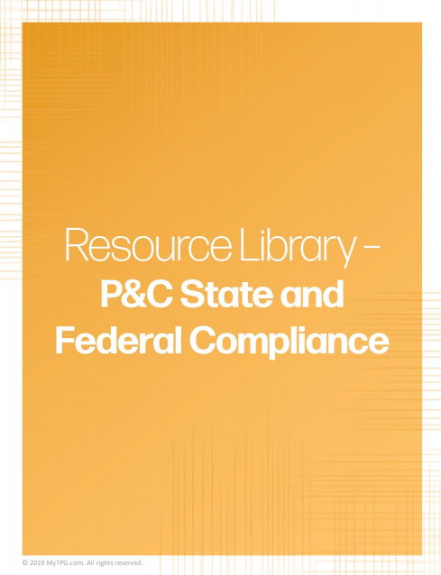 P&C State and Federal Compliance banner | TPG