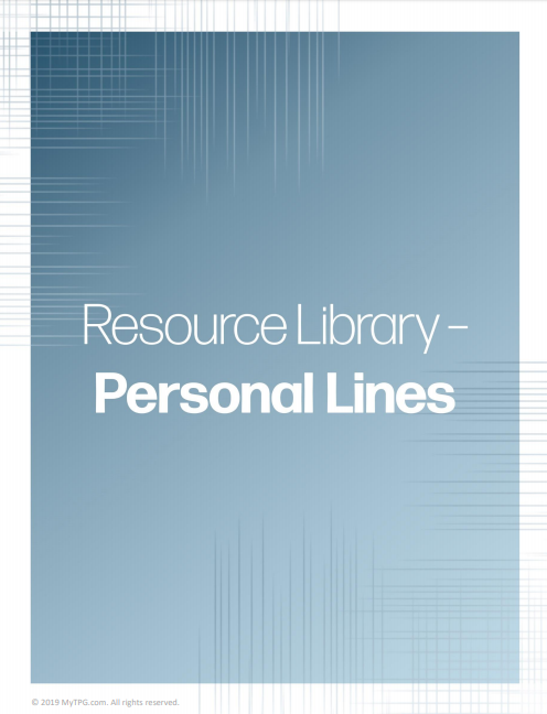 Personal Lines banner - Property and Casualty Resource Library | TPG