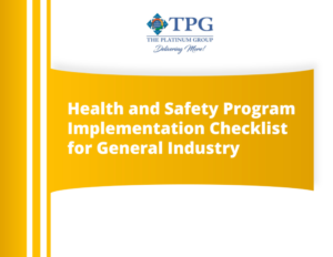 Sample picture of Health and Safety Program Implementation Checklist for General Industry