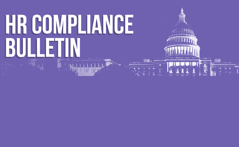 Title image of ARPA and COBRA Subsidy Provisions showing the article series title HR Compliance Bulletin and a rendering of the US Capitol building.