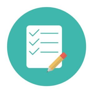 Title image for California Employer Records and Recordkeeping Requirements showing an illustration of a checklist and a pencil on top of it.